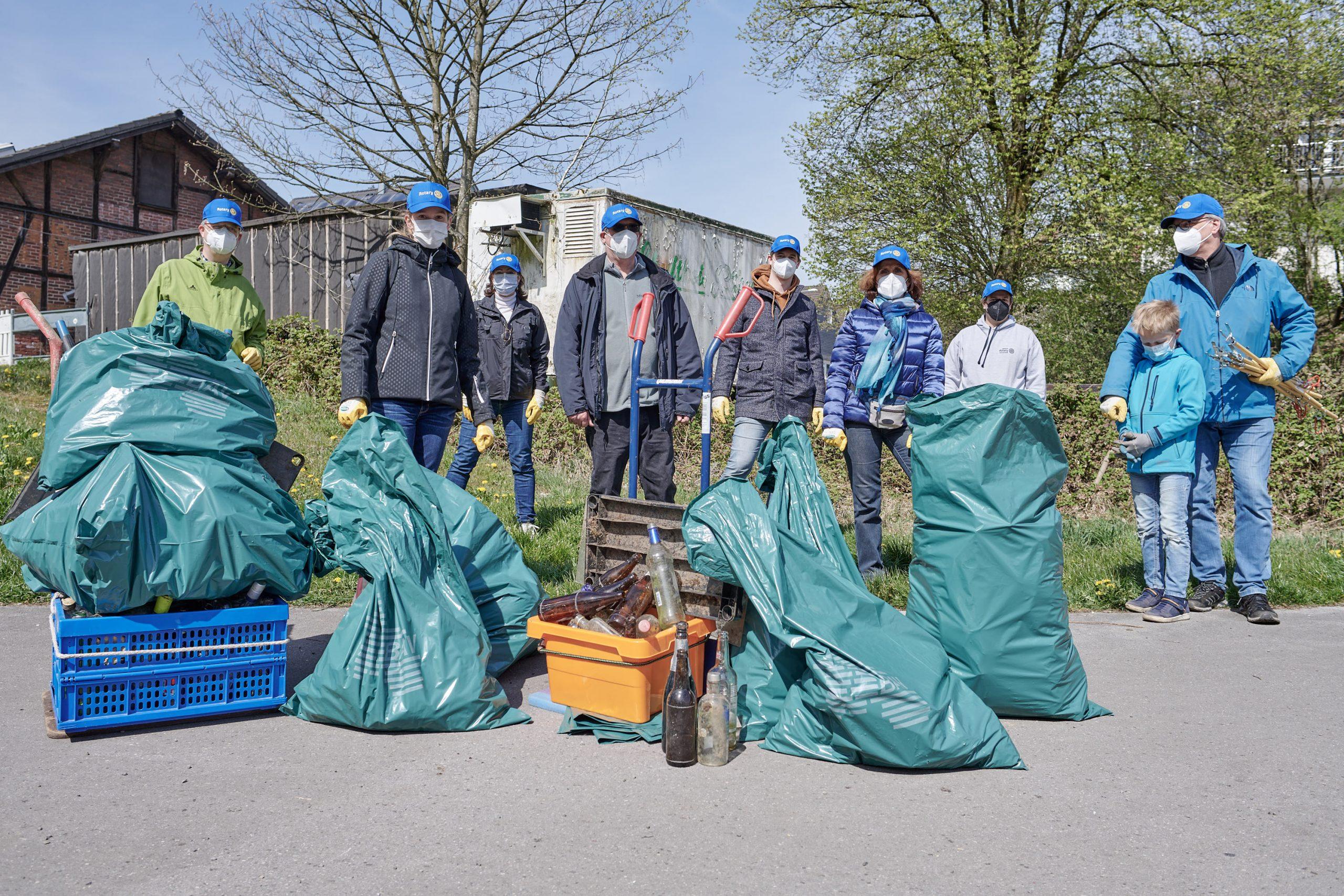 Müll sammlen in Hilgen